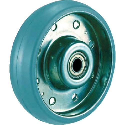 TRUSCO ハイテンプレス製グレーゴム車輪のみ 130_