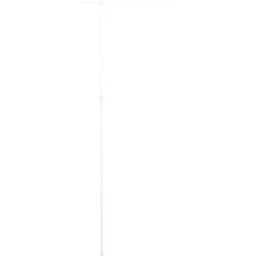 緑十字 のぼり用ポール(のぼり竿) 白 全長1600~3000mm 2段伸縮式_