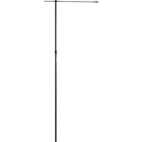 緑十字 のぼり用ポール(のぼり竿) 黒 全長1600~3000mm 2段伸縮式_