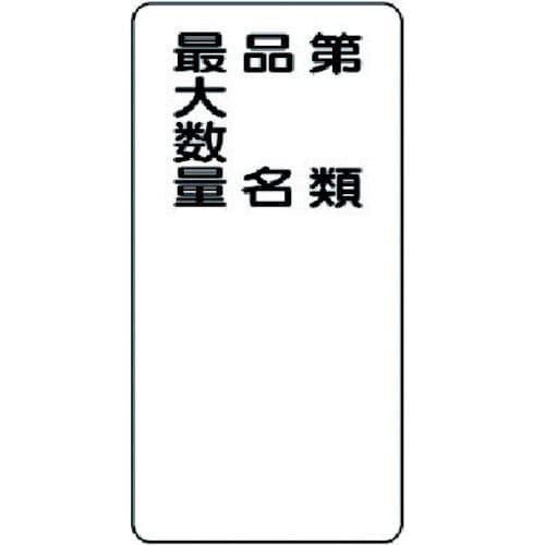 ユニット 危険物標識 第類・品名・最大数量縦型 鉄板(明治山) 600×300_