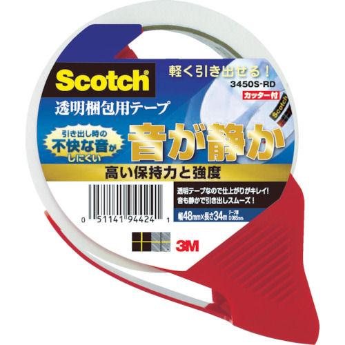 3M スコッチ 透明梱包用テープ 48mmX34m カッター付_