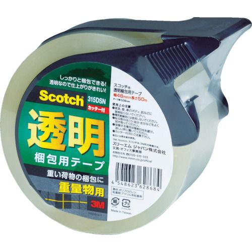 3M 透明梱包用テープ315DSN 48mmX50m重量物梱包用 カッター付_