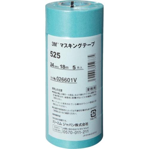 3M マスキングテープ 525 24mmX18m 5巻入り_