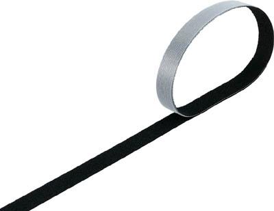 TRUSCO マジックバンド結束テープ 両面 幅20mmX長さ30m 黒_