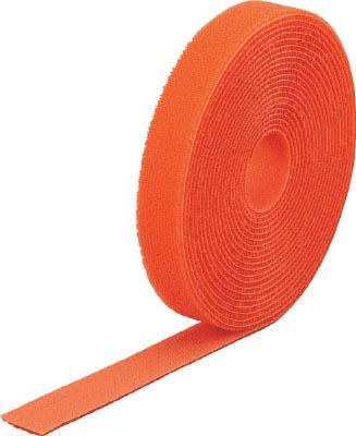 TRUSCO マジック結束テープ 両面 オレンジ 20mm×25m_