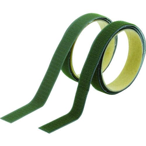 TRUSCO マジックテープ 強粘着 幅25mmX長さ1m OD(1巻=1セット)_