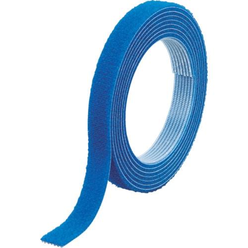 TRUSCO マジックバンド結束テープ 両面 幅10mmX長さ5m 青_