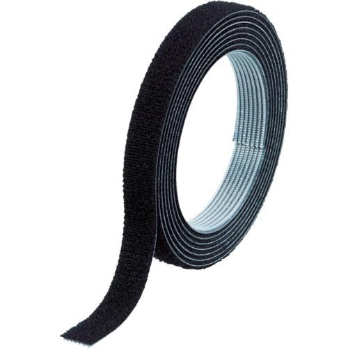 TRUSCO マジックバンド結束テープ 両面 幅10mmX長さ10m 黒_