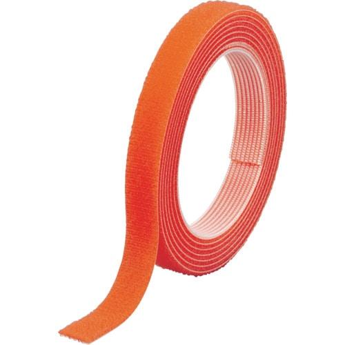 TRUSCO マジックバンド結束テープ 両面 幅40mmX長さ5m オレンジ_