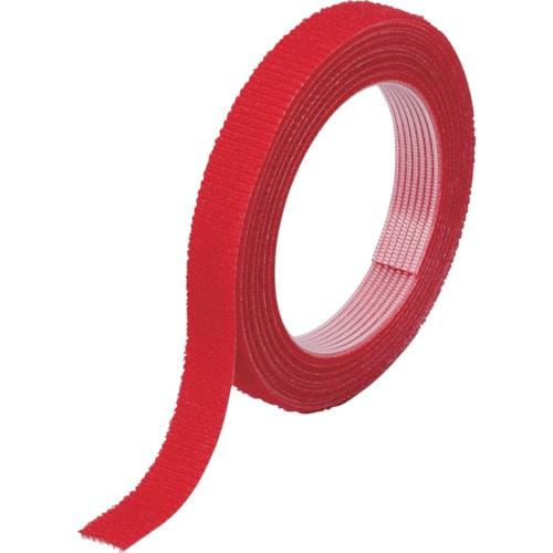 TRUSCO マジックバンド結束テープ 両面 幅40mmX長さ10m 赤_