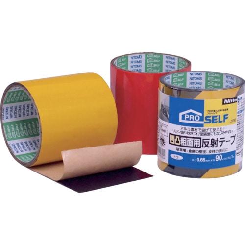 ニトムズ 凹凸粗面用反射テープ 赤_
