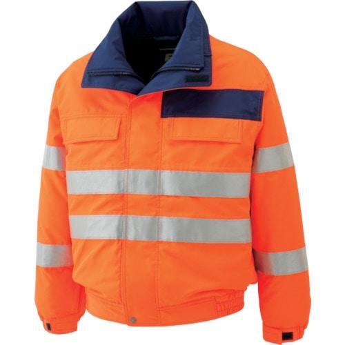 ミドリ安全 高視認性 防水帯電防止防寒ブルゾン オレンジ 4L_
