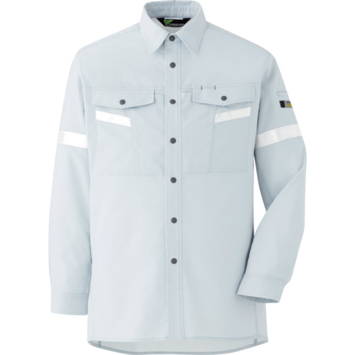 ミドリ安全 ベルデクセル帯電防止 反射材仕様 長袖シャツ VES2551上 4L_