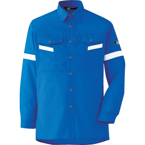 ミドリ安全 ベルデクセル帯電防止 反射材仕様 長袖シャツ VES2553上 LL_