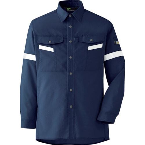 ミドリ安全 ベルデクセル帯電防止 反射材仕様 長袖シャツ VES2557上 5L_