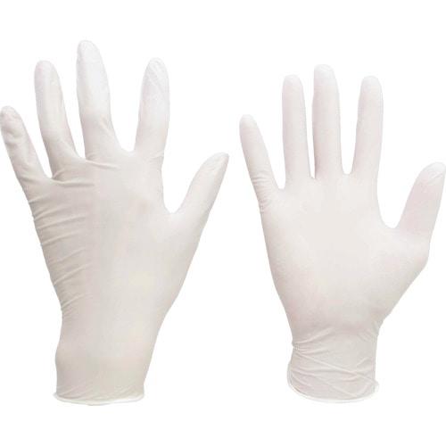 ミドリ安全 ニトリル使い捨て手袋 粉付  白 M (100枚入)_