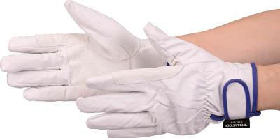 TRUSCO マジック式防寒豚本革手袋 当て付タイプ LLサイズ_