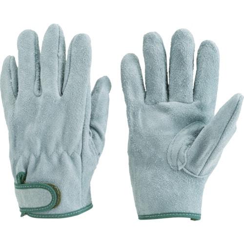 TRUSCO オイル加工革手袋 マジック式 Mサイズ_