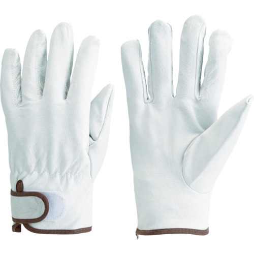 TRUSCO マジック式手袋豚本革製 Mサイズ_