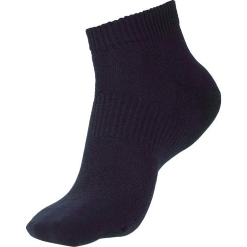 ミドリ安全 安全靴用靴下 強フィットソックス ショートタイプ ブラック_
