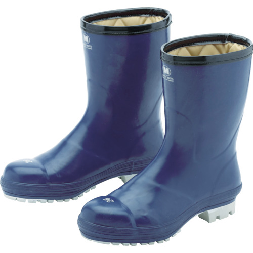 ミドリ安全 氷上で滑りにくい防寒安全長靴 FBH01 ネイビー 23.0cm_