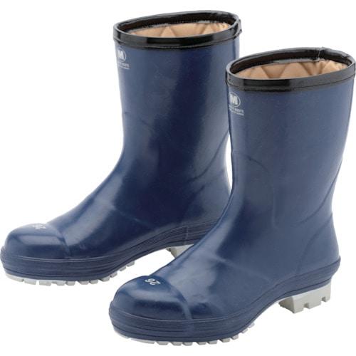 ミドリ安全 氷上で滑りにくい防寒安全長靴 FBH01 ネイビー 25.0cm_