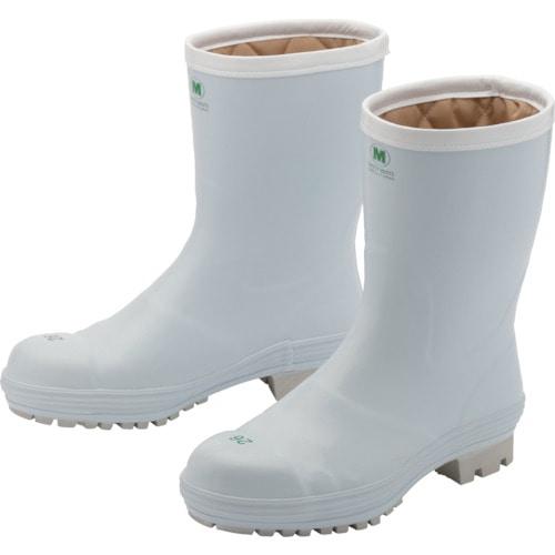 ミドリ安全 氷上で滑りにくい防寒安全長靴 FBH01 ホワイト 25.0cm_