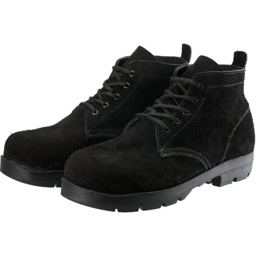 シモン 耐熱安全編上靴HI22黒床耐熱 24.5cm_