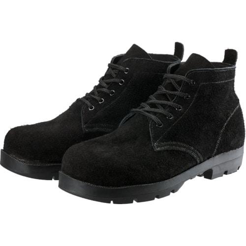 シモン 耐熱安全編上靴HI22黒床耐熱 25.5cm_