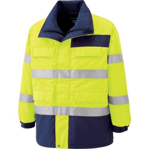 ミドリ安全 高視認性 防水帯電防止防寒コート イエロー 3L_