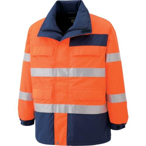 ミドリ安全 高視認性 防水帯電防止防寒コート オレンジ S_