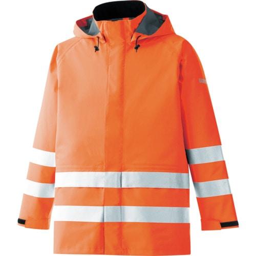 ミドリ安全 雨衣 レインベルデN 高視認仕様 上衣 蛍光オレンジ L_