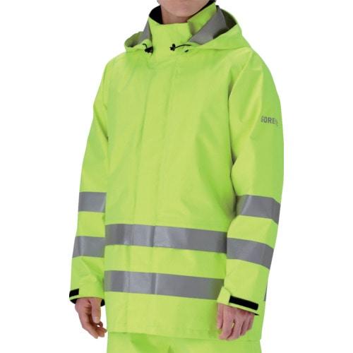ミドリ安全 雨衣 レインベルデN 高視認仕様 上衣 蛍光イエロー M_