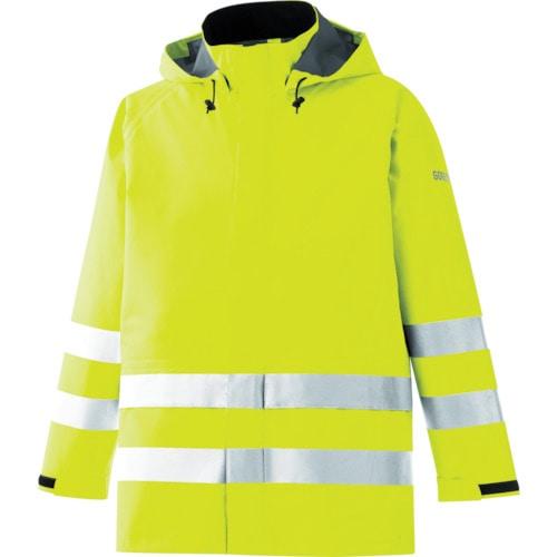 ミドリ安全 雨衣 レインベルデN 高視認仕様 上衣 蛍光イエロー 3L_