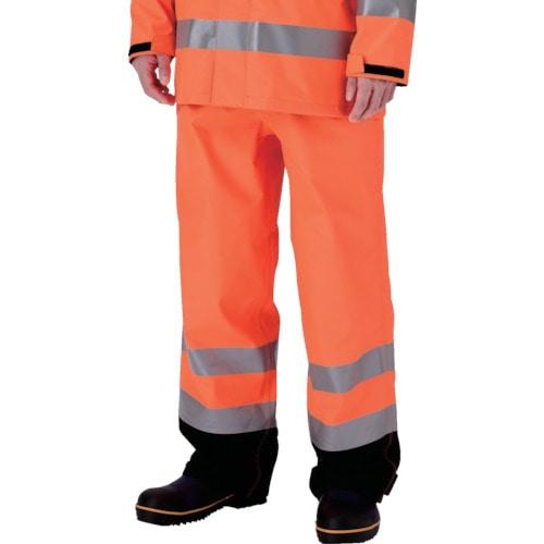 ミドリ安全 雨衣 レインベルデN 高視認仕様 下衣 蛍光オレンジ M_