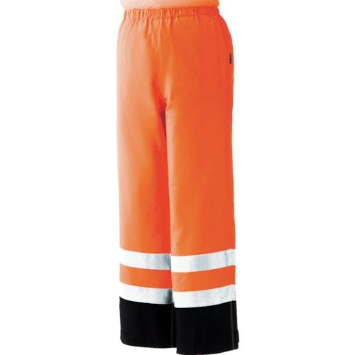 ミドリ安全 雨衣 レインベルデN 高視認仕様 下衣 蛍光オレンジ LL_