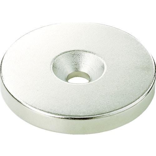 TRUSCO ネオジム丸形磁石 皿ネジ穴付 外径12mmX8mm M3 1個入_