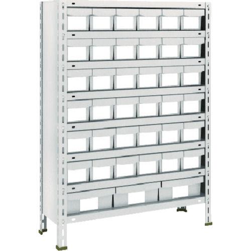 TRUSCO 軽量棚875X300X1200樹脂引出NG小X36大X3 ネオグレー_