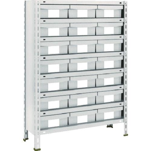 TRUSCO 軽量棚 875X300X1200 樹脂引出NG 小X21 ネオグレー_