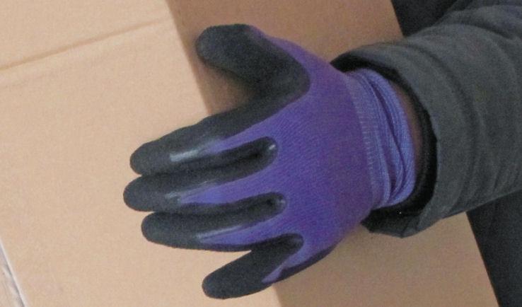 天然ゴム背抜き手袋 L 3双セット パープル