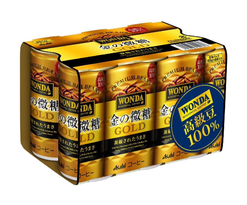ワンダ 金の微糖 缶コーヒー 185g 6本パック