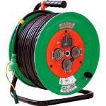 日動 電工ドラム 防雨防塵型100Vドラム アース漏電保護しゃ断器付 50m _