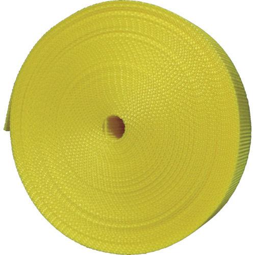 TRUSCO ナイロン平ベル 1.2t×25mm×10m 黄色 _