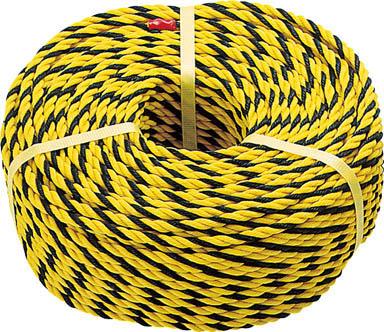 TRUSCO 標識ロープ 3つ打 10.0mmX10m _