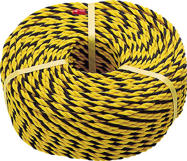 TRUSCO 標識ロープ 3つ打 線径10mmX長さ50m _