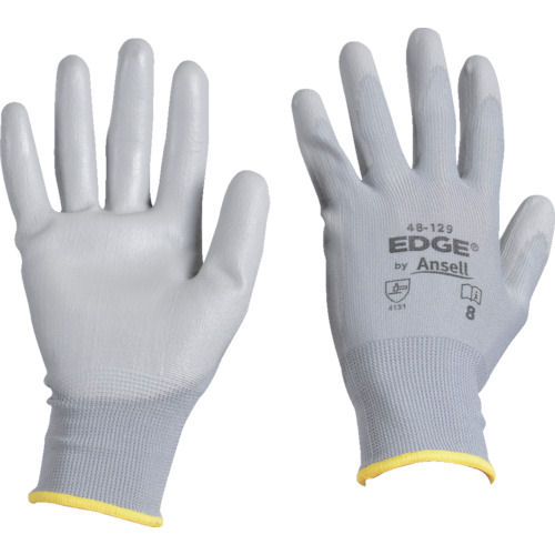 アンセル ウレタン背抜手袋 エッジ 48-129 グレー XSサイズ_