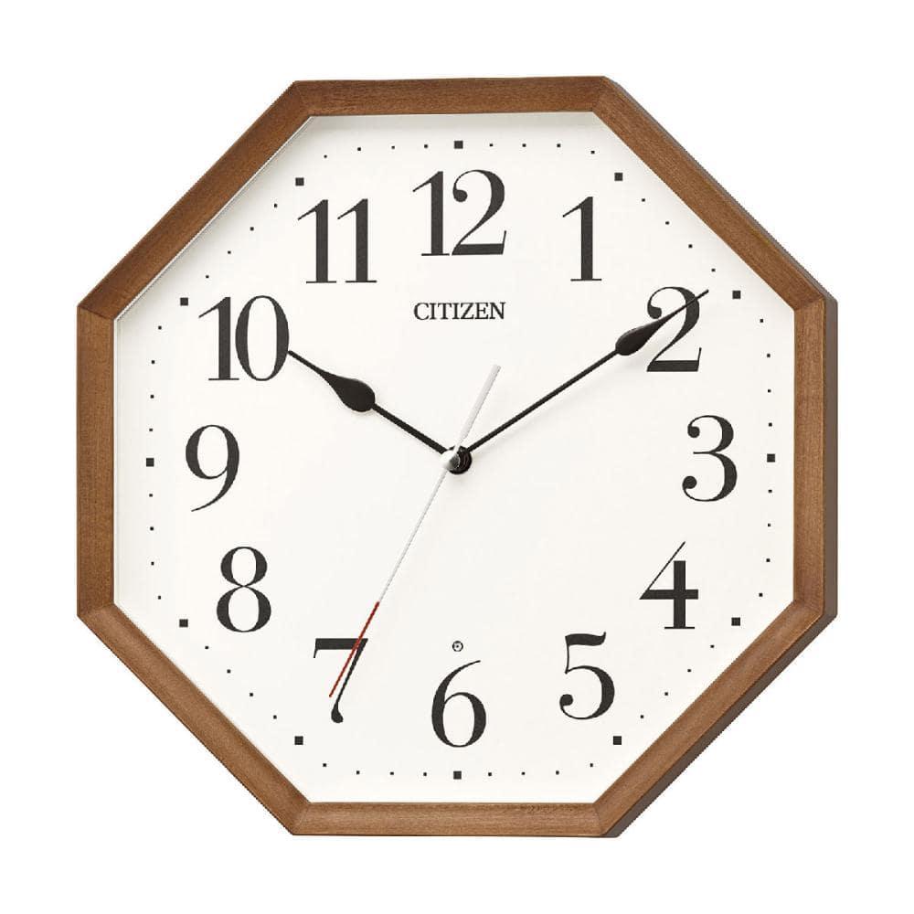 リズム時計 シチズン 電波掛け時計 8MY531-006