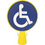 ミツギロン コーン看板車椅子シール付き 300×94×426_