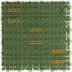 ワタナベ 人工芝 ブラッシングターフ 30cm×30cm グリーン_