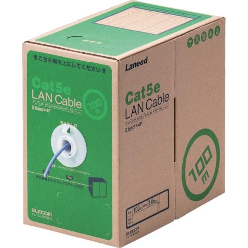 エレコム EU RoHS指令準拠LANケーブル CAT5E 100m パープル_